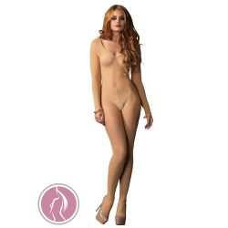 Long Sleeves Bodystocking - NUDE - O/S - LINGERIE
