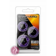 Stay Hard Beaded Cockrings Purple