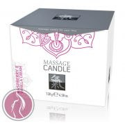 Massage Candle - Raspberry & Vanilla Cream 130 g