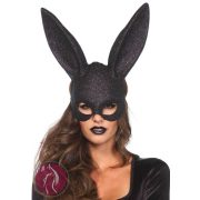 Glitter Masquerade Rabbit Mask Black