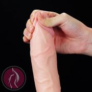 "Soft Ejaculation Cock With Ball 9"" Flesh"