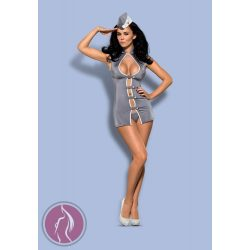 Stewardess 3 pcs costume grey  S/M