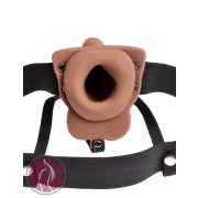 """Fetish Fantasy 6"""" Hollow Rechargeable Strap-On Tan"""