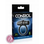 Sir Richard's Control Vibrating Silicone C-Ring - Black