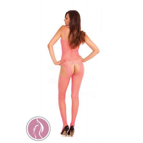 Net Suspender Bodystock Pink