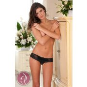 Crotchless Lace Boyshort S/M