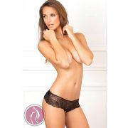 CROTCHLESS LACE BOW-BACK PANTY, S/M